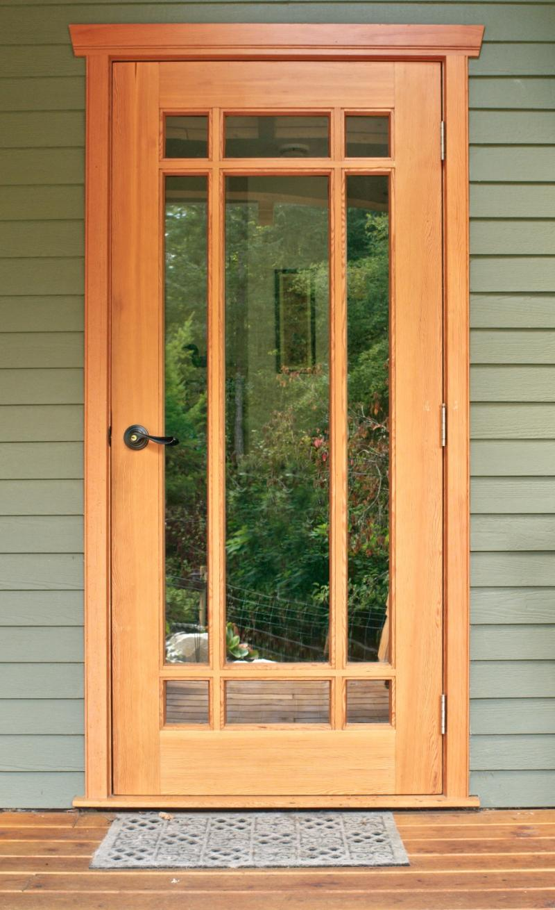 Custom wood doors saratoga woodworks craftsman style for Custom solid wood doors