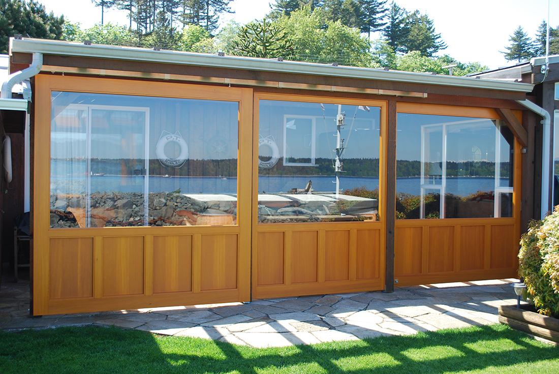 3 door sliding track saratoga woodworks craftsman for Sliding glass doors vancouver