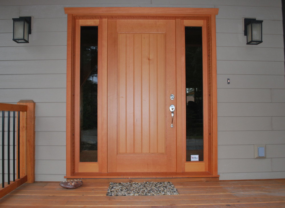 Custom wood doors saratoga woodworks craftsman style for Custom made wood doors