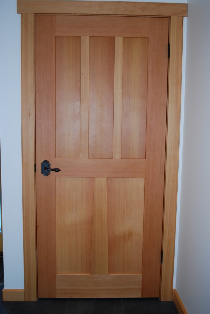 Custom wood doors saratoga woodworks craftsman style for Solid wood interior doors