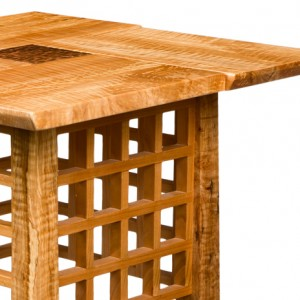 Handcrafted custom Tea Table by Saratoga Woodworks
