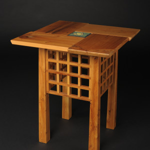 Yew Wood Tea Table