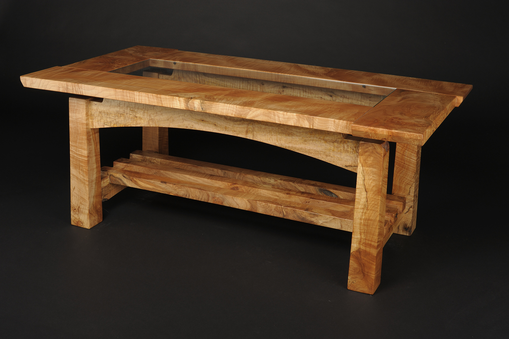 Figured Maple Coffee Table Saratoga Woodworks