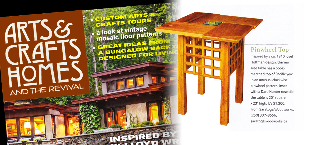 As Featured in Arts & Crafts Homes Magazine